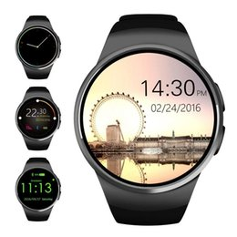 Water Resistant Gps Australia - Bluetooth Smart Watch 1.3 inches IPS Round Touch Screen Water Resistant KW18 Smartwatch Phone with SIM Card Slot Sleep Heart Rate Monitor