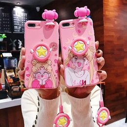 beautiful girl case Canada - 2020 designer cartoon beautiful girl stand mobile phone case for iPhone 11 pro 11 XS MAX 8 7 6 6S Plus X XR silicone case wholesale