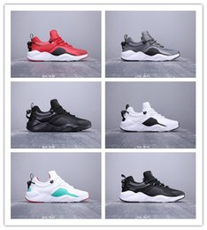 Button hunt online shopping - 2019 Hot Sale Huarache City Move Black White Fashion Button Set Running Shoes Mens High Frequency Walking Jogging Outdoors Sports Sneakers