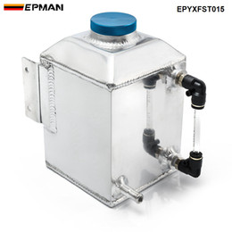 fuel cans NZ - EPMAN Baffled Aluminum Oil Catch Can Resevoir Tank Kit Oil Tank Fuel Surge Tank Car Accessories 1L EPYXFST015