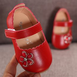 Elegant Flower Girl Shoes Australia - Infant Princess Kids Shoes For Girls Flower Baby shoes girls Elegant Crystal Flower Single Princess Casual