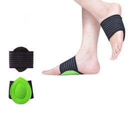 ankle support pad UK - 2020 New Mounchain Unisex 1pair Ankle Protection Breathable Foot Arc Thickened Foot Mat Sports Ankle Support Shoe Insole Pad Bandage Strap