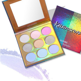 $enCountryForm.capitalKeyWord Australia - Wholesale DHL Free Highlighter KALEIDOSCOPE Laser Polarized Eye Shadow Makeup Palette High-shine Glitter Shimmer Brilliant Eyeshadows Powder