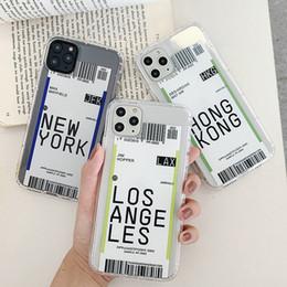 la moda celular billete de avión de teléfono divertida Caso HK LA NY color para el iPhone 11 pro max X XR XS Max 6 6s 6plus 7 8 7plus 8plus suave TPU en venta