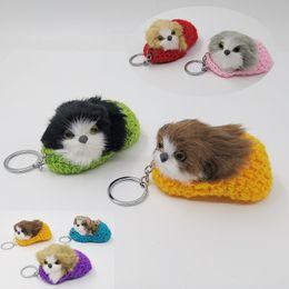$enCountryForm.capitalKeyWord Australia - 2019 dog keychain slippers animal ring keychain cute lovely bag accessory plush toy for man gift for women
