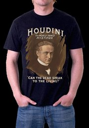 71c7869608 HARRY HOUDINI MAGICIAN CAN THE DEAD SPEAK  T-Shirt S M L XL XXL XXX Men  Women Unisex Fashion tshirt Free Shipping black