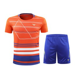 Victor Badminton Shirts Australia - New 2018 Victor Badminton T-shirt Competition badminton Clothes Men women Clothes jersey Quick-drying Table Tennis shirt