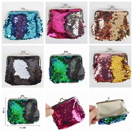 $enCountryForm.capitalKeyWord NZ - Mermaid Sequin Coin Pocket Mermaid Magic Glitter Little Evening Clutch Bag Mini Wallets Handbag Fashion Girls Purse K4518