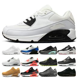 Cheap White Flats For Women Australia - 2019 Cushion Running Shoes for men women Cheap Triple Black White Yellow Mens Women Sneakers Classic Trainer Outdoor Athletic Sports Shoe