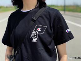 T Shirt Cotton Sport Fashion Australia - 19ss usa fashion brand champion classic print round neck cotton T-shirt comfortable lovers wear street trend sports short sleeve