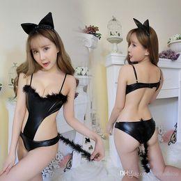 $enCountryForm.capitalKeyWord Australia - Sexy lingerie Hot Erotic Nightwear Catwoman Uniform Wild Slender Body Role Play Chest Suit Bunny Girl Uniform Temptation
