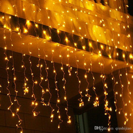 Window Curtain Fairy Lights UK - 3x3M 6x3M 8x3M 10x3M 110V 220V Led Curtain Fairy String Light Outdoor Christmas Window Icicle LED String Light Holiday Wedding Garland