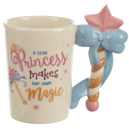 fairy stick wand Canada - Fairy Stick Handle Ceramic Mug 3D Cartoon Magic Wand Coffee Mugs For Girl Gift drop shipping
