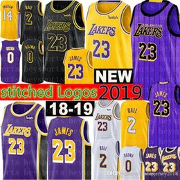 Discount men balls - 2019 Los Angeles 23 LeBron James Lakers jerseys Mens 2 Lonzo # Ball 0 Kyle # Kuzma 14 Brandon # Ingram 24 Kobe 8 Bryant
