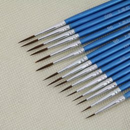 Oil Stroke Australia - Free shipping wholesales hook line pen stroke nail nylon hook line pen gouache oil painting extra fine brush