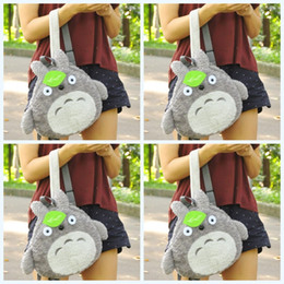 ToToro children bag online shopping - Cartoon Totoro Hayao Miyazaki Backpack Children Students Lovely Bags Parental Knapsack Casual Green Leaf Fashion Hot Sale33mzf1
