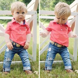 Summer Infants Australia - New INS Baby Boys Girls Letter Sets TopT-shirt+Pants Kids Toddler Infant Casual short Sleeve Suits Summer Outfits Clothes LY37