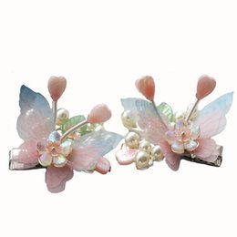 $enCountryForm.capitalKeyWord UK - Handmade Fairy Princess Butterfly Hairpin with Tassel Hair Clip Accessories Chinese Traditional Style Hanfu Photograph Prop N1