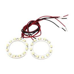 Discount led car lights - Brand New 2pcs 40mm White 1210 12 Leads Car Angel Eyes Light