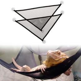 2 PC / sistema de mascotas la hamaca del acoplamiento con juego juguetes Ventosa oscilación de nylon Climb animal cama para dormir Para Reptil Serpiente lagartija VT0363 Producto en venta