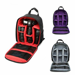 dslr camera bag sony Australia - Waterproof Shockproof SLR DSLR Camera Bags Case Backpack for Canon Sony Nikon Outdoor Travel Photography Rucksack Shoulderbag Handbag