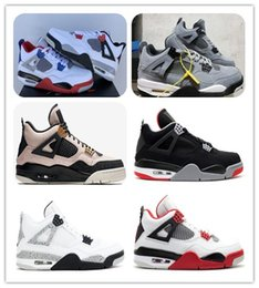 3eb8d9bb7c6 2019 4s bred mens basketball shoes What the 4 Silt Red White cement PALE  CITRON CACTUS JACK sports sneakers with boxes free shippment