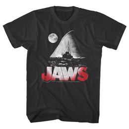 $enCountryForm.capitalKeyWord UK - OFFICIAL Jaws Shark Fin Island Night Moon Men's T-Shirt Men's Clothing T-Shirts Tees Men Hot Cheap Short Sleeve Male