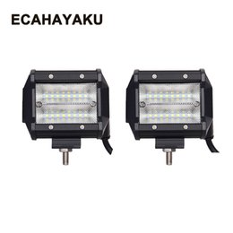 "12v 48w work lights Canada - ECAHAYAKU 2x Led Light Bar 48W 4"" Work Light for Tractor Boat Off-road 4WD 4x4 Truck SUV ATV 12V 24V Auto Driving Light"