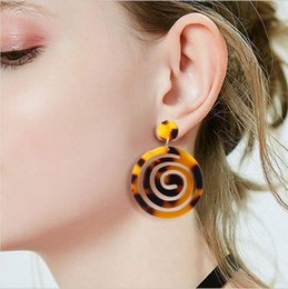 $enCountryForm.capitalKeyWord NZ - 2019 NEW type fashion acetate plate earrings lollipop sugar design retro personalized ear decoration exaggerate design earrings