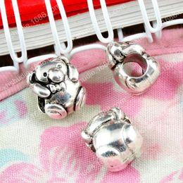 50pcs Tibetan silver Teddy Bear Charms 16x10mm