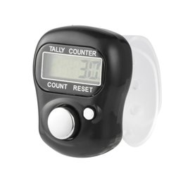 Discount electronic tally - Digital Mini LCD Electronic Digital Golf Finger Hand Ring Tally Counter Handheld Hand Tally Counterter Silver