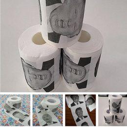 Wholesale Roll Paper Towels Australia - Donald Trump Funny Expression Roll Paper Printed Napkins Towel Creative Print Paper Fun Expression Paper Towel Napkins T8I020