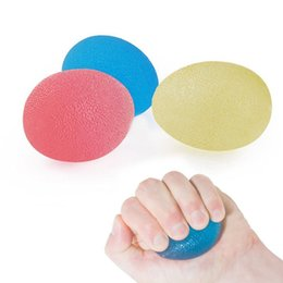 hand squeeze ball UK - Egg-Shaped Silicone Grip Ball Hand Fitness Ball Finger Strengthener 3 Squeeze Resistances Soft Grip Ball For Hand Training