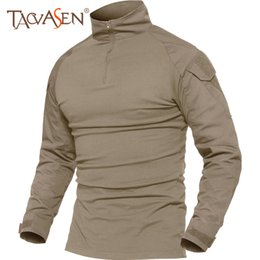 $enCountryForm.capitalKeyWord Australia - Tacvasen T-shirts Men Summer Tactical Tees Soldiers T-shirt Long Sleeve Hiking Clothes For Hunting Breathable Tee Tops Male 5xl C19041201