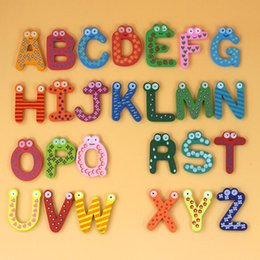 3d Adhesive Letters Australia - 3D Wooden Letter Stickers Alphabet Word Wall Sticker Refrigerator Sticker for kids Bedroom DIY Home Decoration Accessories