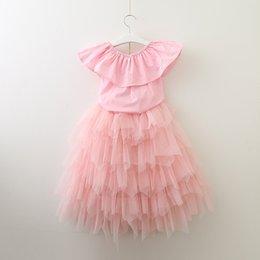 $enCountryForm.capitalKeyWord NZ - kids designer clothes girls Tutu Mesh dress children Tulle Princess cupcake dress 2019 summer Boutique baby Clothing 5 colors C775