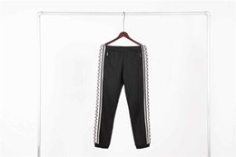 $enCountryForm.capitalKeyWord Australia - Fashion new letter men women stitching casual pants sports pants stitching thin section ribbon personality casual trousers cgjfdfx