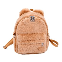 a2f69394b9 2018 Wobag Female Elegant Small Luxury Backpacks Women Plush Mini Backpack  Girl Students Shoulder School Bag Travel Tote Backpac