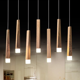 $enCountryForm.capitalKeyWord Australia - Modern Japanese Style Wood Led Pendant Lights Kitchen Restaurant Hang Lamp Modern Lustre Pendent Lamp Loft Deco Indoor Lighting