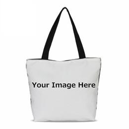 Customized Bags Australia - Nice Veevanv Design Own Logo Canvas Women Handbags Fashion Customized Printing Lady Shoulder Tote Bags Portable Girls Bookbag