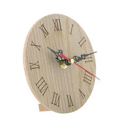 $enCountryForm.capitalKeyWord UK - European Retro Round Wooden Small Clock Wall Clocks Luxury Newest