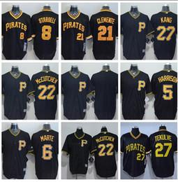 $enCountryForm.capitalKeyWord Australia - 2019 Men's Pittsburgh Custom Jersey Pirates 21 Roberto Clemente 8 Stargell Majestic Black Cool Base Custom Jersey