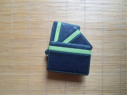 candy wallets wholesale Canada - Ultra Thin Men Wallet Small Size Magic Band Solid Color Card Holder Coin Purse 2020