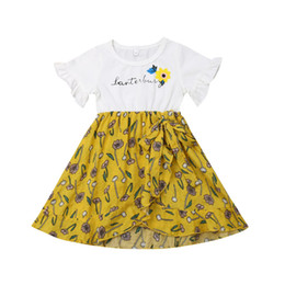 af1c46cb35c 2019 Girls Kids Summer Baby Sweet Princess Lovely Party Wedding Holiday  Beach Dress Fashion Holiday print Dress Girl Clothing