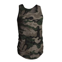 High Elastic Neck T Shirts UK - GYM High elastic training Camouflage Men's T-shirt Sports Running Exercise Pure Cotton Elastic Personal Short-sleeved T-shirt