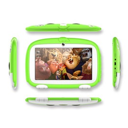 android touch pad tablet pc UK - 7inch Kids Tablet PC Quad Core 8GB Dual Cameras Wifi Google Player Children Pad Q718 Touch Screen Andorid Gift cartoon Dog DHL