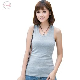 Low cut tank tops women online shopping - New Tanks Women Summer Sexy Low Tops T Shirts Tank Top Solid Cotton Sleeveless Camisole Cut Womens Vestidos Dy0004