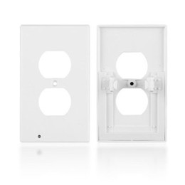 $enCountryForm.capitalKeyWord Australia - LED Night Light Switch Cover Wall-mount Safety Guide Outlet Coverplate Safety ABS Plastics Light Sensor Home Supplies