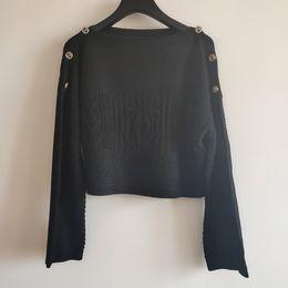 Wholesale women hollow sweaters for sale - Group buy 2020 Milan Runway Sweater Slash Neck Long Sleeve Women s Sweater High End Jacquard Pullover Women Designer Sweater