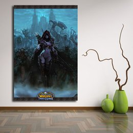 Hero Paintings Australia - World Of Warcrafts Sylvanas The Storm Heroes Canvas Posters Prints Wall Art Painting Decorative Picture Modern Home Decoration